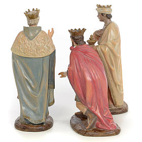Tre Re Magi 25 cm pasta di legno dec. anticata s3
