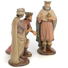 Tre Re Magi 25 cm pasta di legno dec. anticata s4