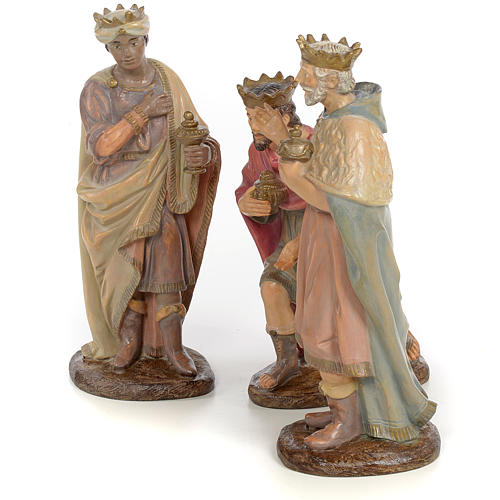 Tre Re Magi 25 cm pasta di legno dec. anticata 2