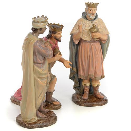 Tre Re Magi 25 cm pasta di legno dec. anticata 4