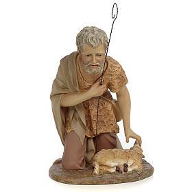 Pastore adorazione 50 cm pasta di legno dec. anticata s1