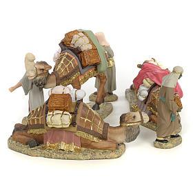 3 Rois Mages et chameaux 12cm pâte à bois fine s4