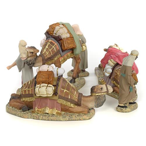 3 Rois Mages et chameaux 12cm pâte à bois fine 4
