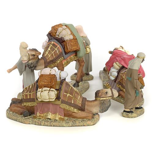 Nativity figurines, three Wise Kings on camel, 12cm (fine decora 4