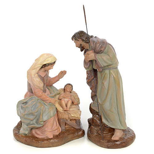 Sainte Famille nativité finition vieillie 20 cm 1