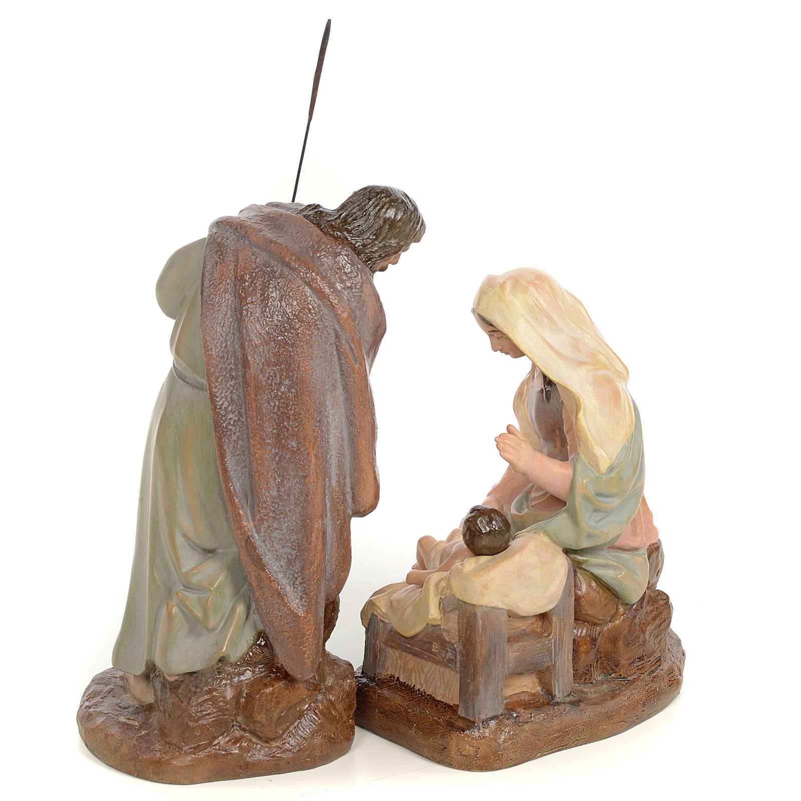 Nativity scene in wood pulp 20cm antique finish 3