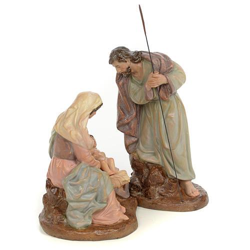 Nativity scene in wood pulp 20cm antique finish 4