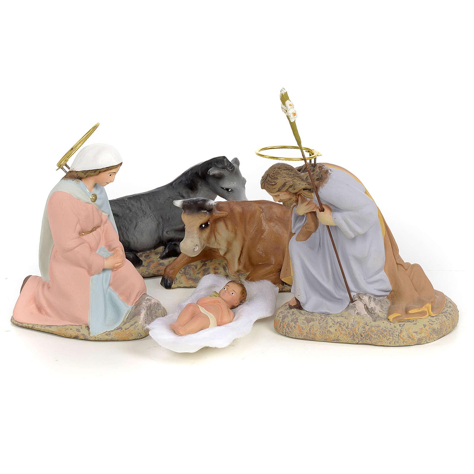 Sainte Famille pâte à bois 40 cm finition raffinée 5 pcs 3