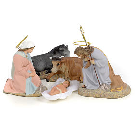Nativity with 5 pieces, 40cm (fine decoration) s1