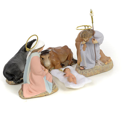 Nativity with 5 pieces, 40cm (fine decoration) 4