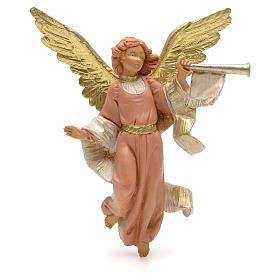 Statue per presepi: Angelo suona la tromba 12 cm Fontanini