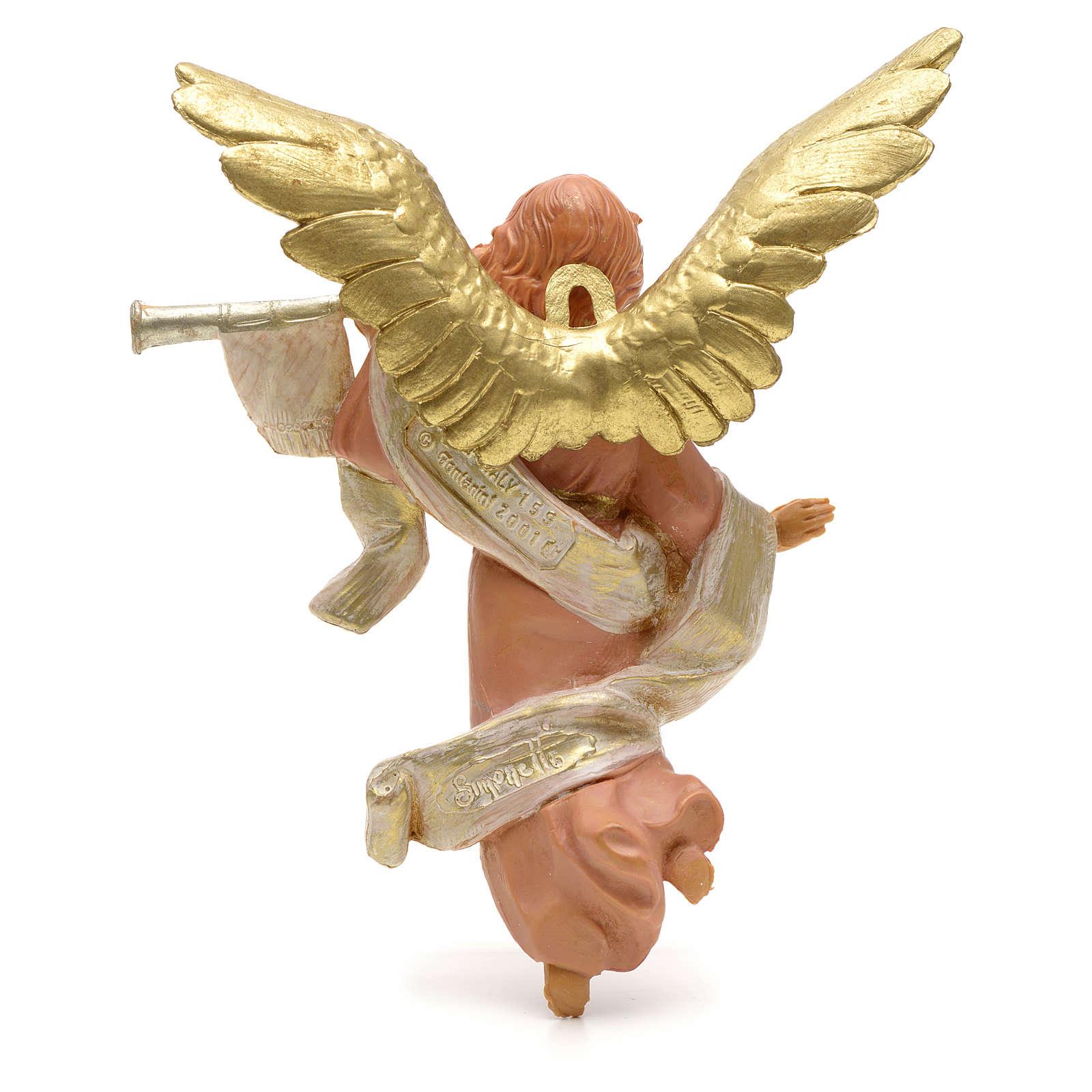Anioł grający na trąbce 12 cm Fontanini 3