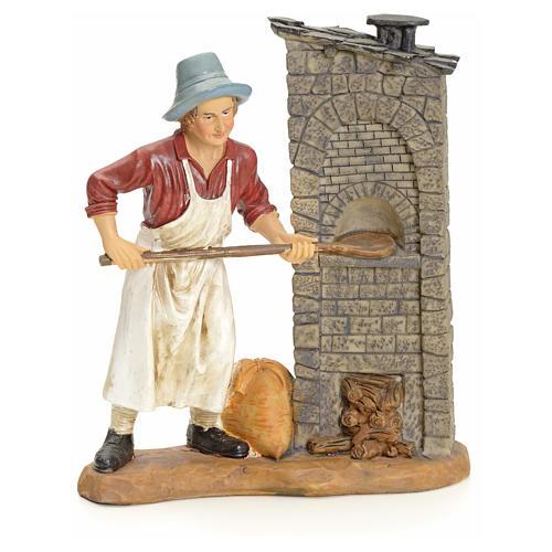 Panadero pesebre 20 cm en resina 1