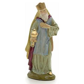Statue per presepi: Re Magio bianco 12 cm resina Linea economica Landi