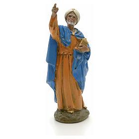 Statue per presepi: Re Magio mulatto 12 cm resina Linea economica Landi