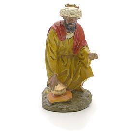 Statue per presepi: Re Magio moro 12 cm resina Linea economica Landi