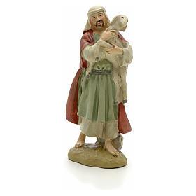 Pastore con pecora 12 cm resina Linea Martino Landi s1