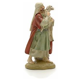 Pastore con pecora 12 cm resina Linea Martino Landi s2