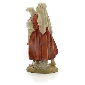 Pastore con pecora 12 cm resina Linea Martino Landi s3