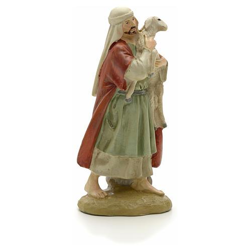 Pastore con pecora 12 cm resina Linea Martino Landi 2