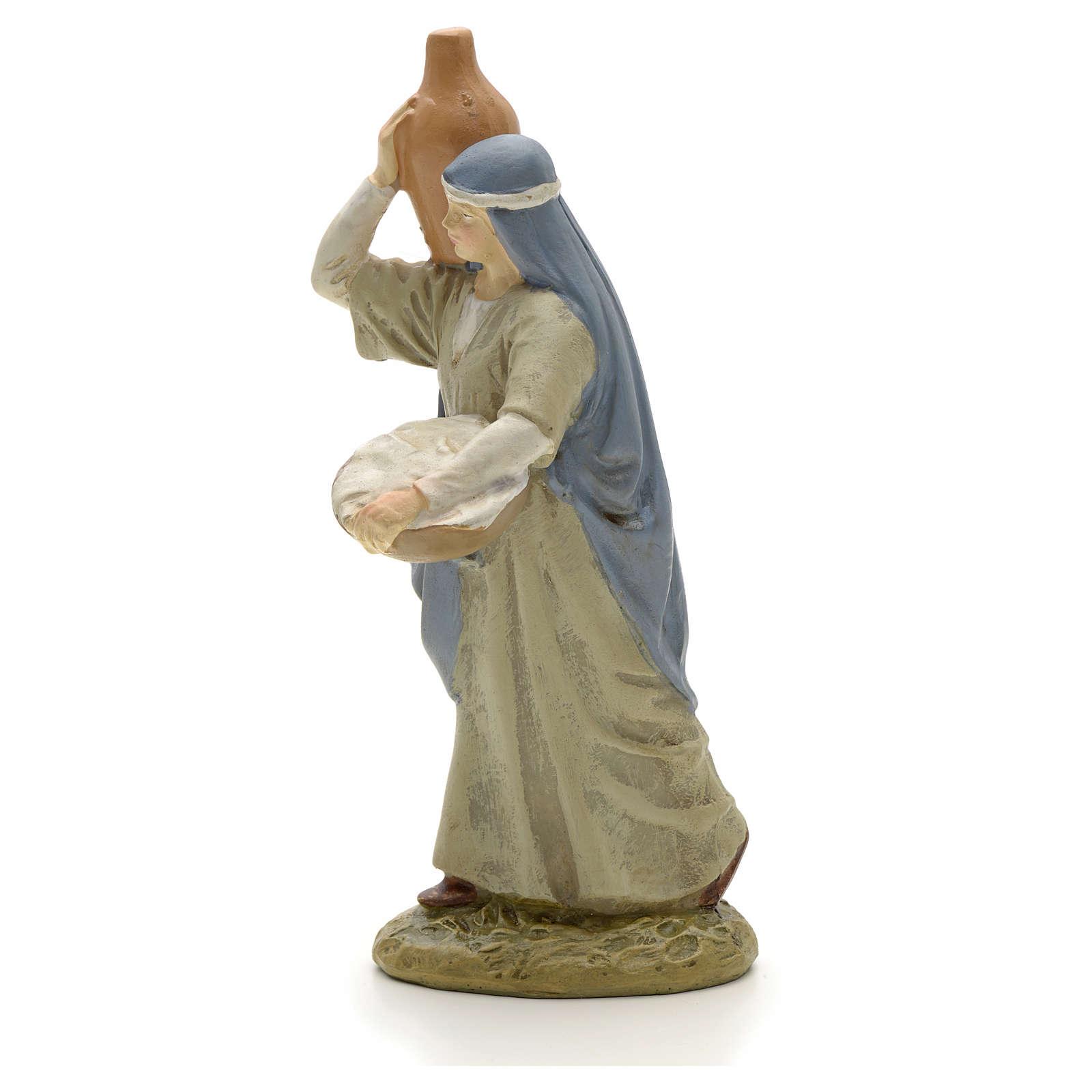 Pastora con jarrón 12 cm resina 3