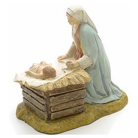Vierge à l'enfant résine crèche s3