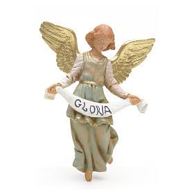 Figury do szopki: Anioł Gloria 12 cm zielony Fontanini