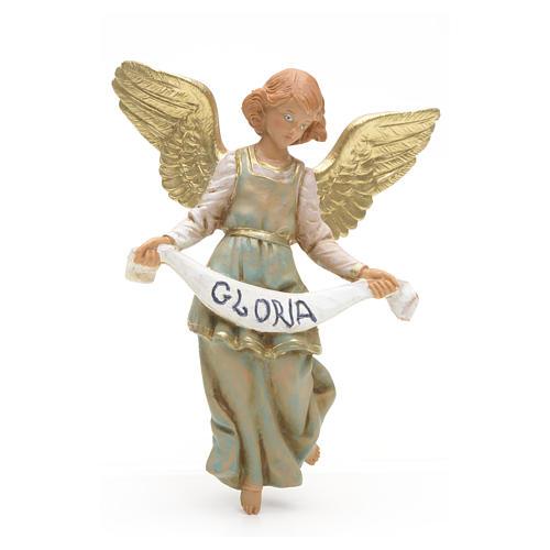 Anjo Glória verde 12 cm Fontanini 1