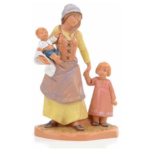 Fille avec enfants crèche Fontanini 12 cm 1