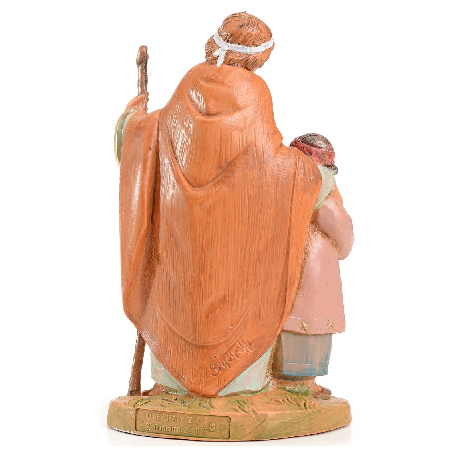 Papa e Misham 12 cm Fontanini edizione limitata anno 2004 3
