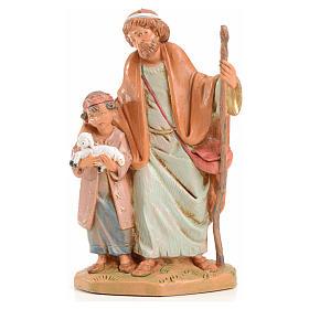 Papa e Misham 12 cm Fontanini edizione limitata anno 2004 s1