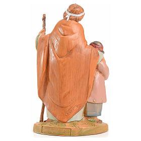 Papa e Misham 12 cm Fontanini edizione limitata anno 2004 s2