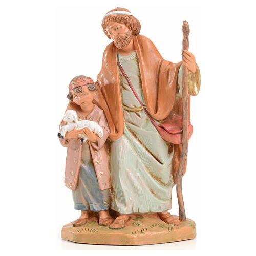 Papa e Misham 12 cm Fontanini edizione limitata anno 2004 1