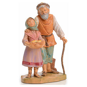 Statue per presepi: Abigail e Peter 12 cm Fontanini edizione limitata anno 1994