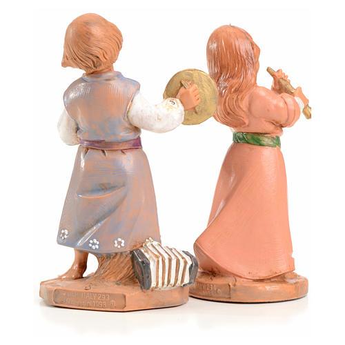 Tiras e Lena 12 cm Fontanini edición limitada 1999 2