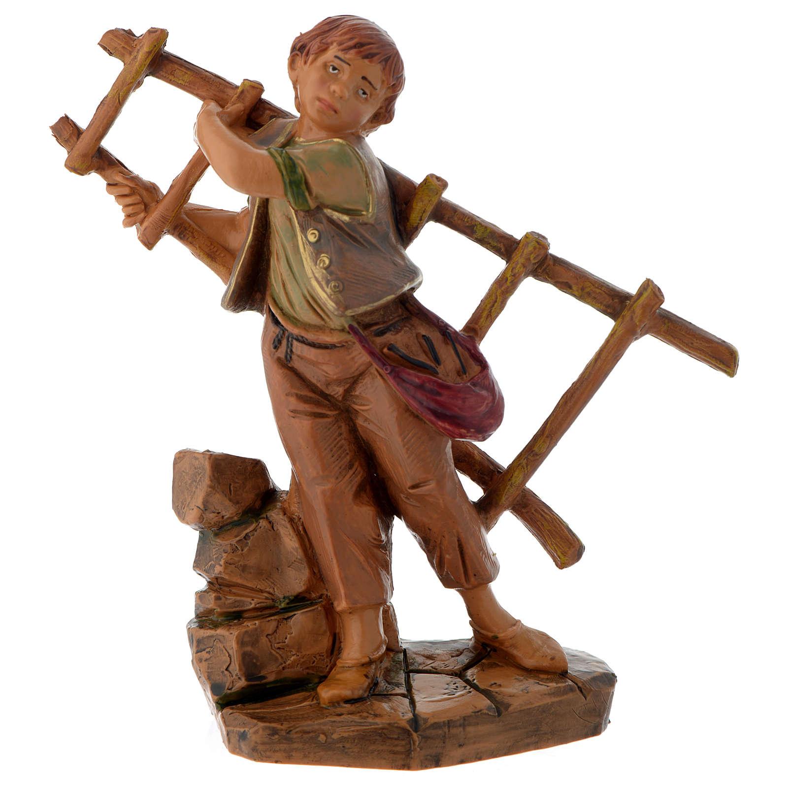 Rapaz com escada de mão 12 cm Fontanini 4