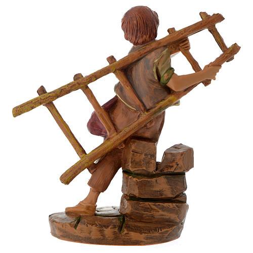 Rapaz com escada de mão 12 cm Fontanini 3