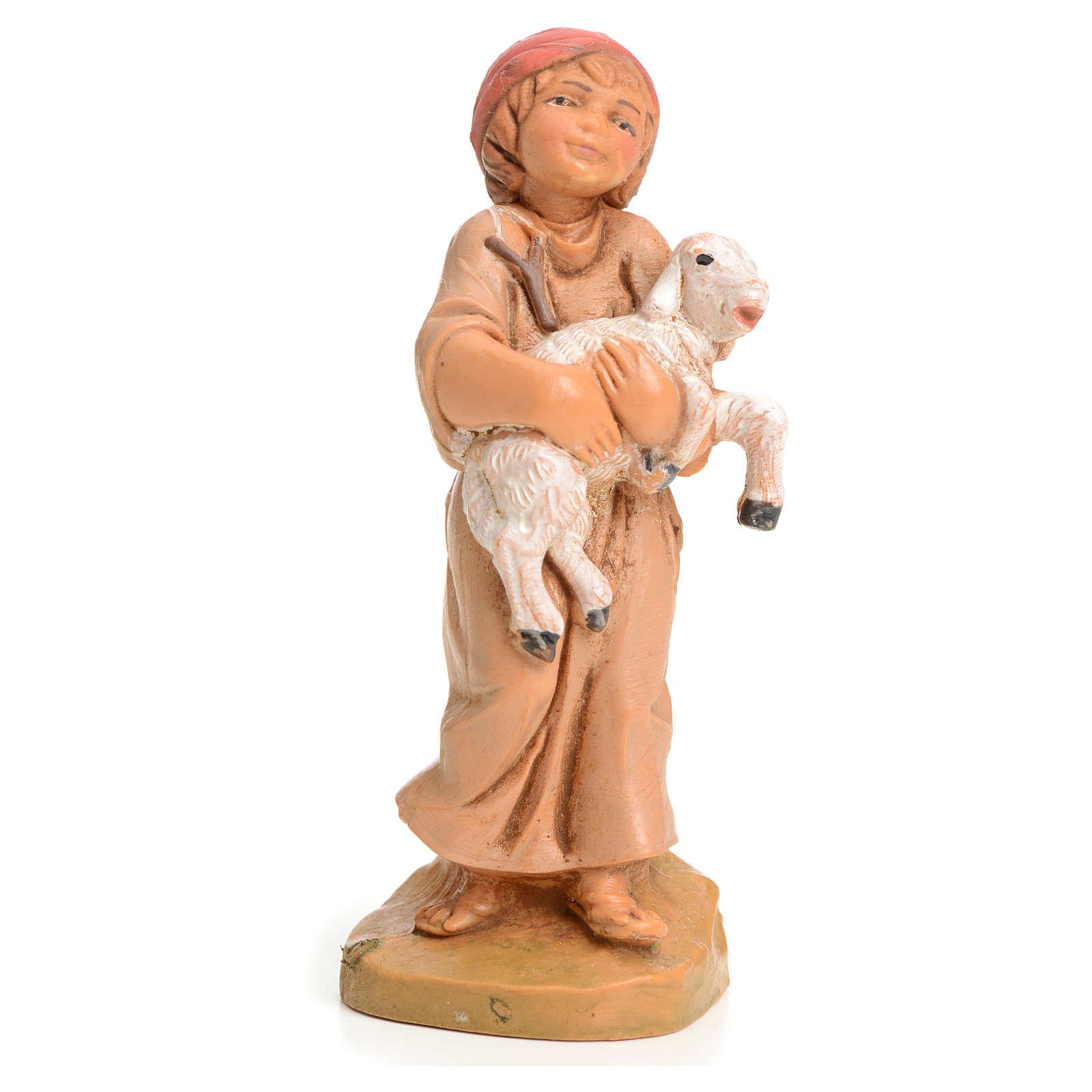 Bimbo con pecora 9,5 cm Fontanini 4