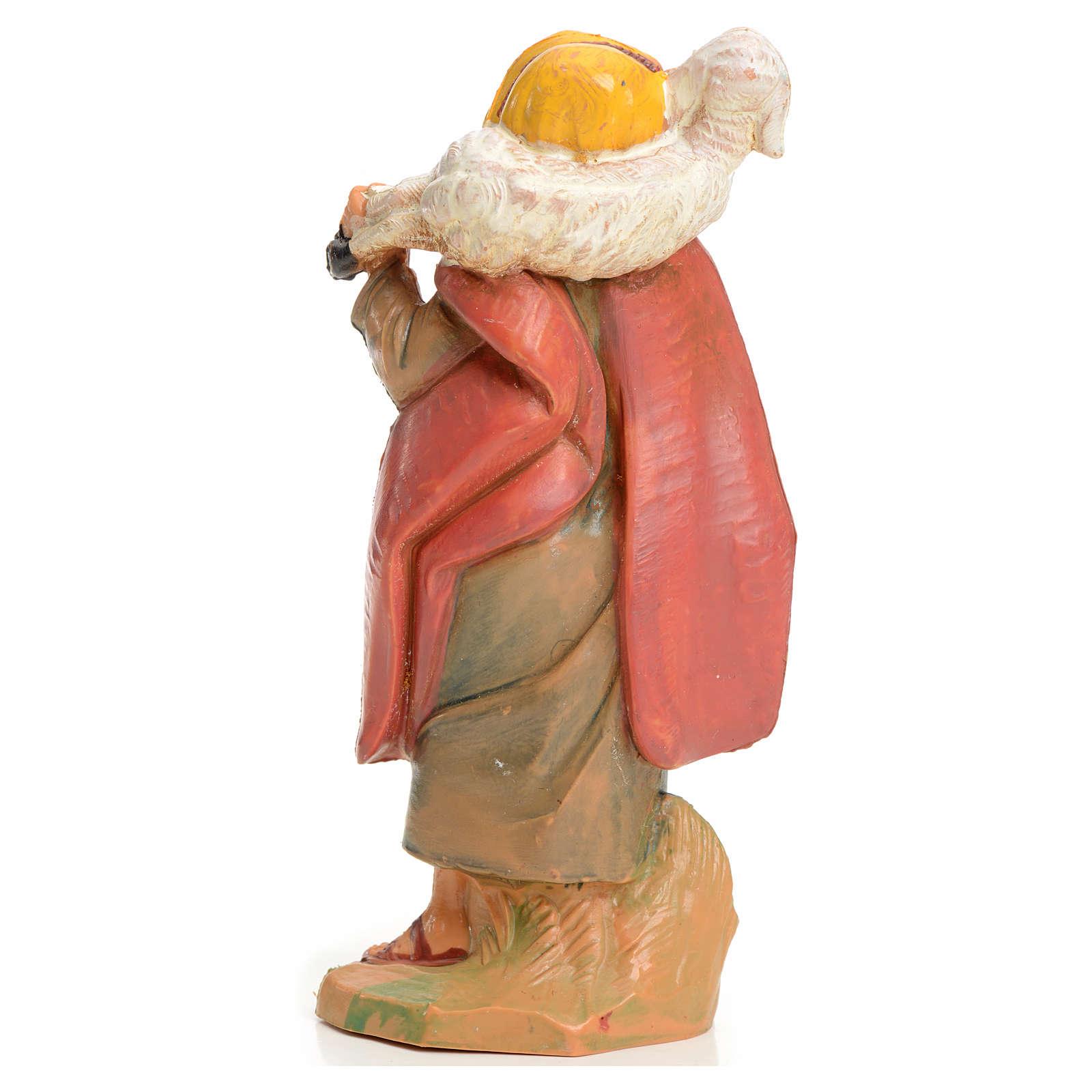 Pastor con cordero en el cuello 9,5 cm Fontanini 3
