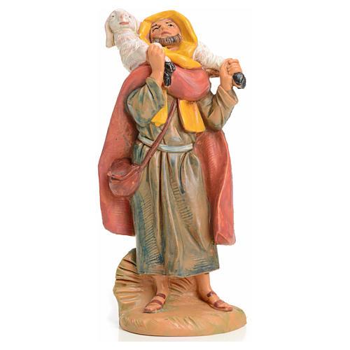 Pastor con cordero en el cuello 9,5 cm Fontanini 1
