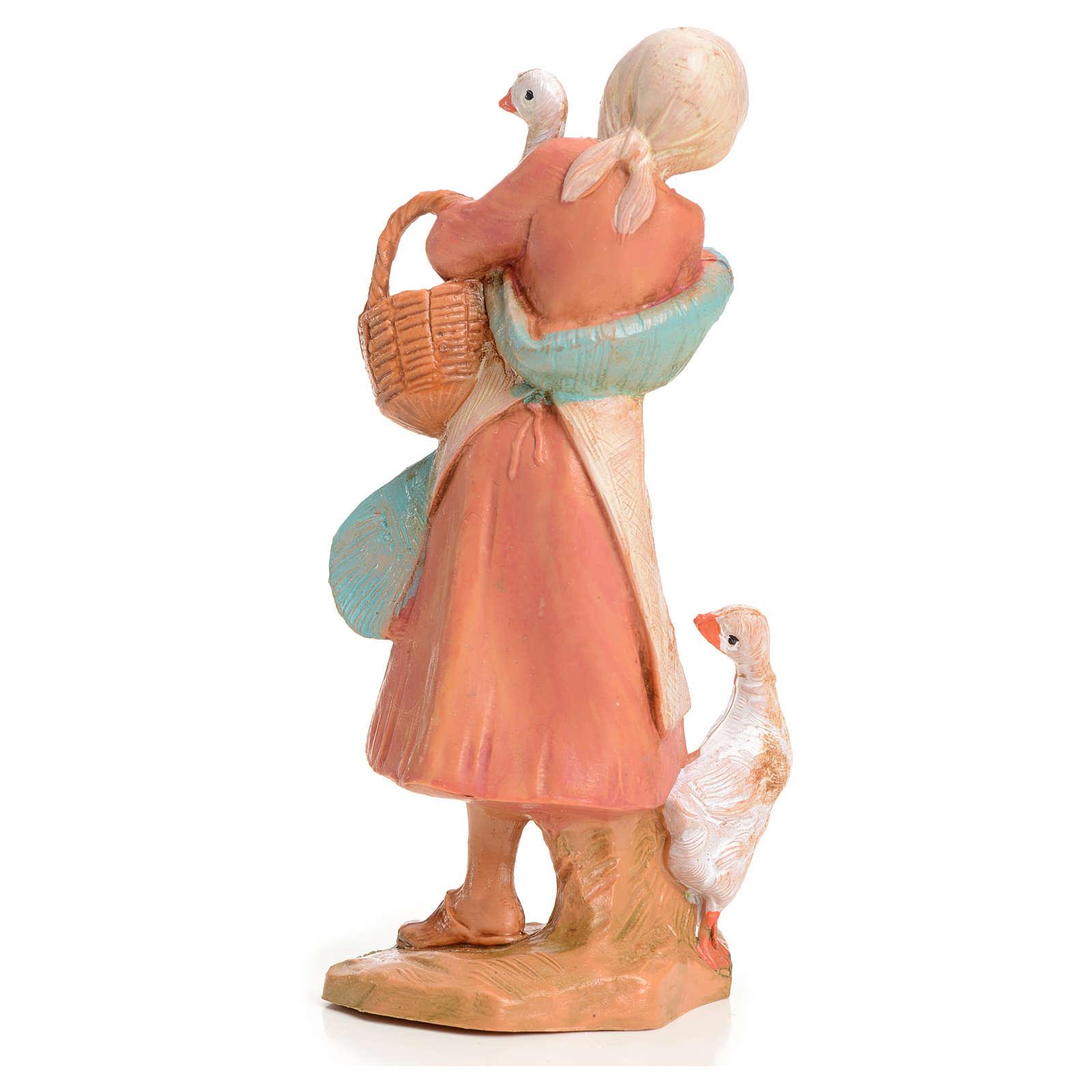 Femme à l'oie crèche 9,5 cm Fontanini 3