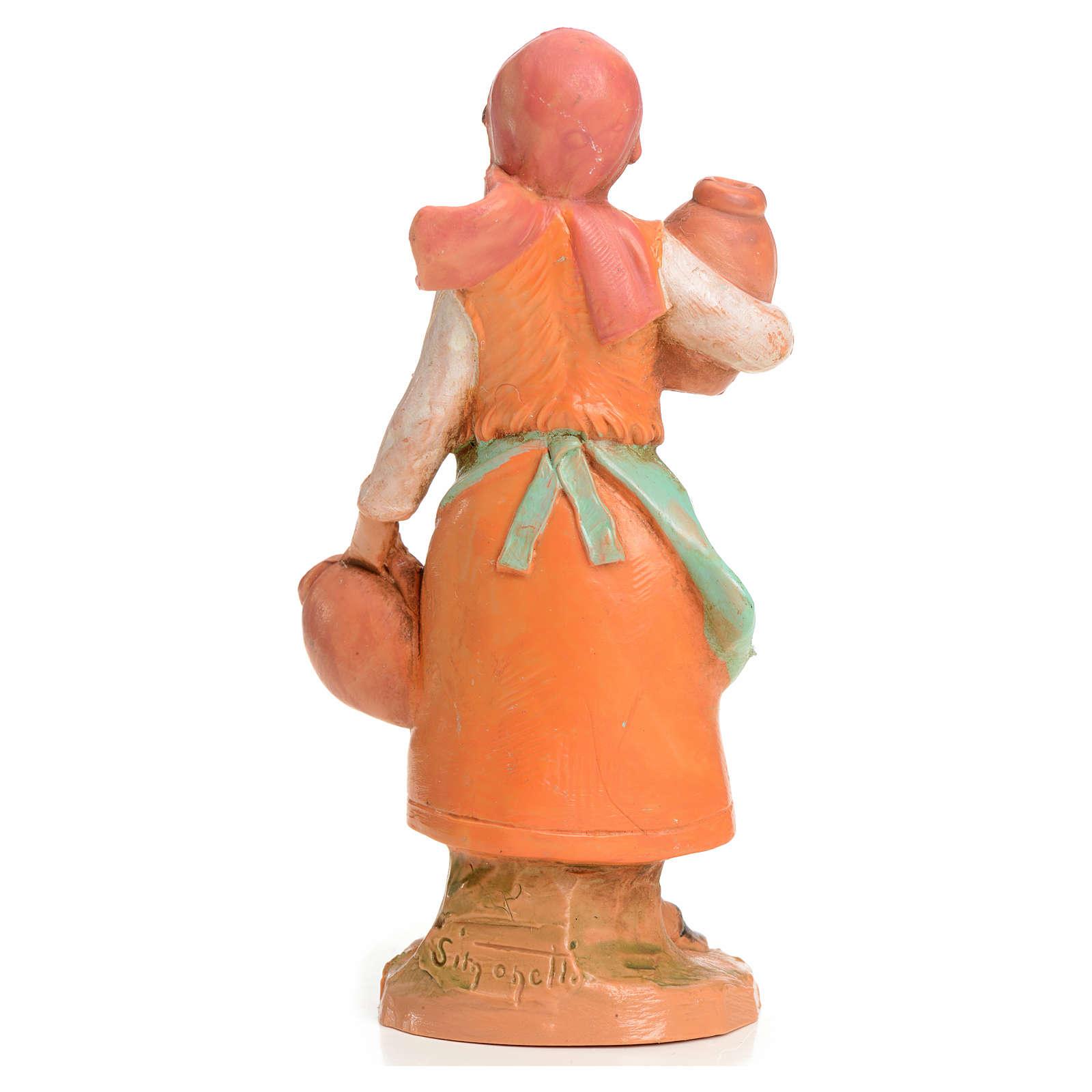 Mujer con jarrones 9,5 cm Fontanini 4