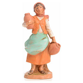 Mujer con jarrones 9,5 cm Fontanini s1
