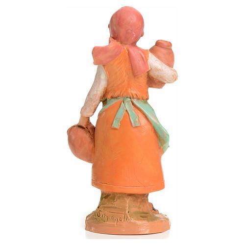 Mujer con jarrones 9,5 cm Fontanini 2