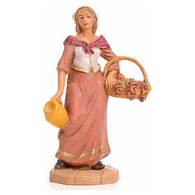 Señora con cesta de frutas 9,5cm Fontanini s1