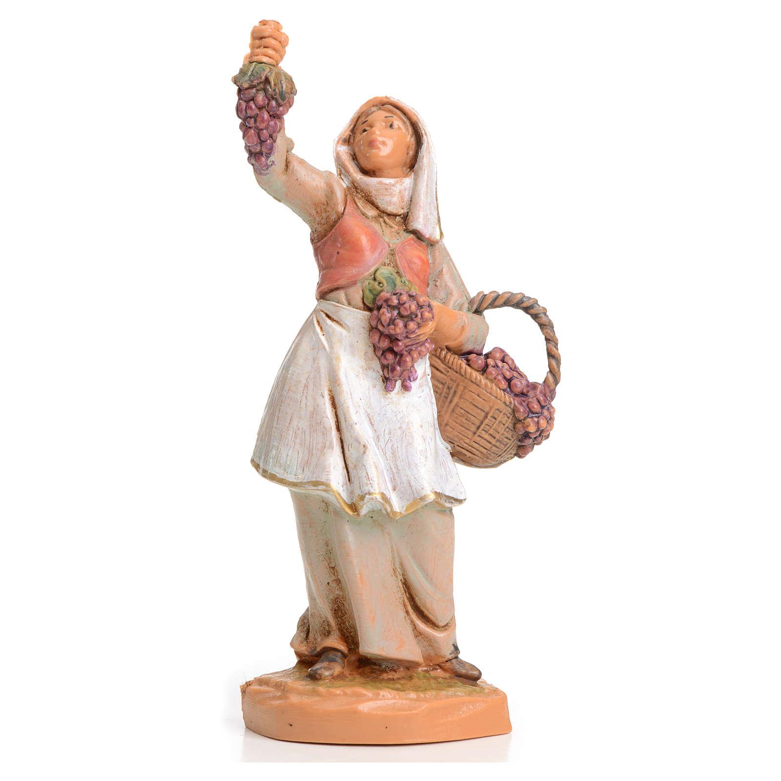 Pastora con uvas 6,5cm Fontanini 3