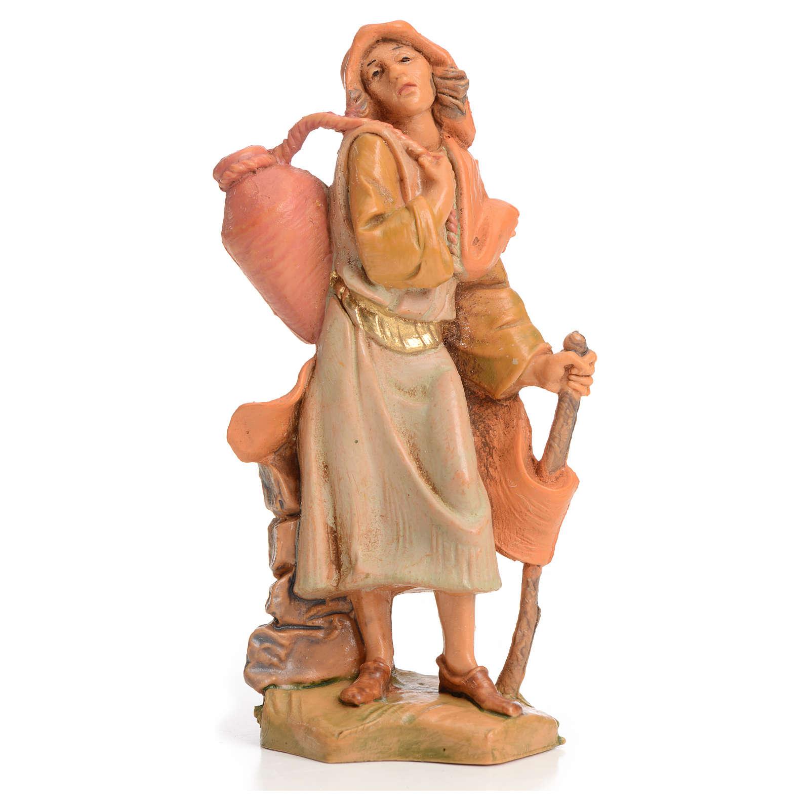 Pastor com bastão e ânfora 6,5 cm Fontanini 4