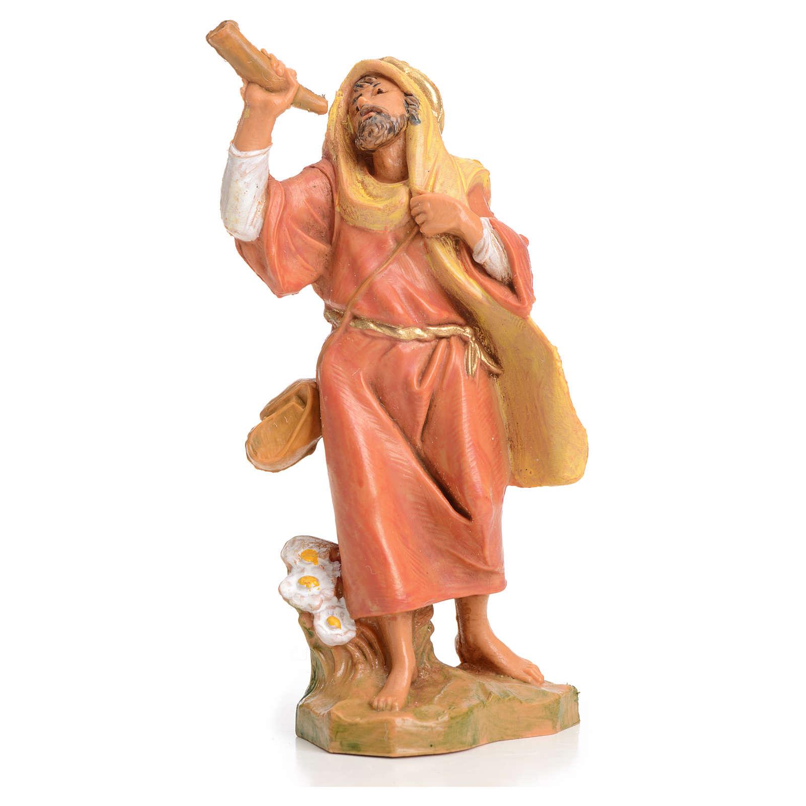 Pastor con el cuerno 6,5 cm Fontanini 3