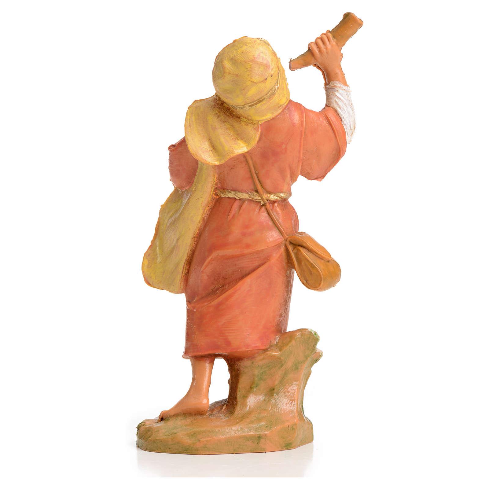Pastor con el cuerno 6,5 cm Fontanini 4