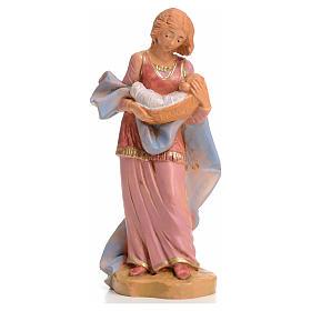 Pastorinha com bebé 12 cm Fontanini s1